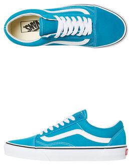 ENAMEL BLUE WOMENS FOOTWEAR VANS SNEAKERS - SSVNA38G1U65BLUW