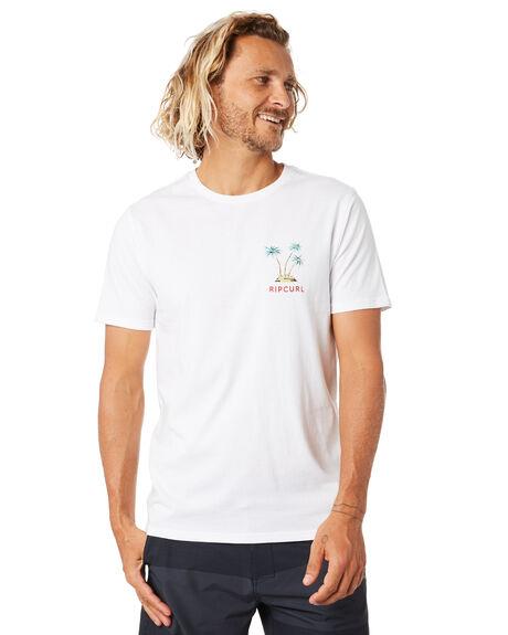 WHITE MENS CLOTHING RIP CURL TEES - CTEOM91000