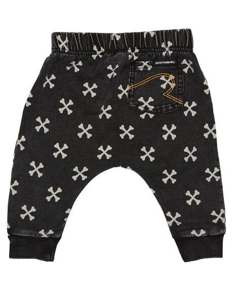CROSS BONES KIDS BABY ROCK YOUR BABY CLOTHING - BBP205-CBCROSS