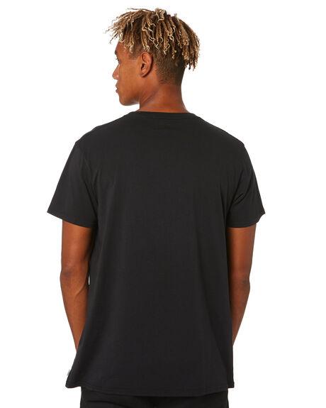 DIRTY BLACK MENS CLOTHING BANKS TEES - WTS0431DBL