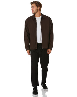 POSTAL BROWN MENS CLOTHING THRILLS JACKETS - TA20-221CPTBRW