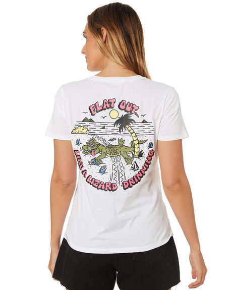 d7f77a554413 Volcom Womens Flat Out Tee - White | SurfStitch