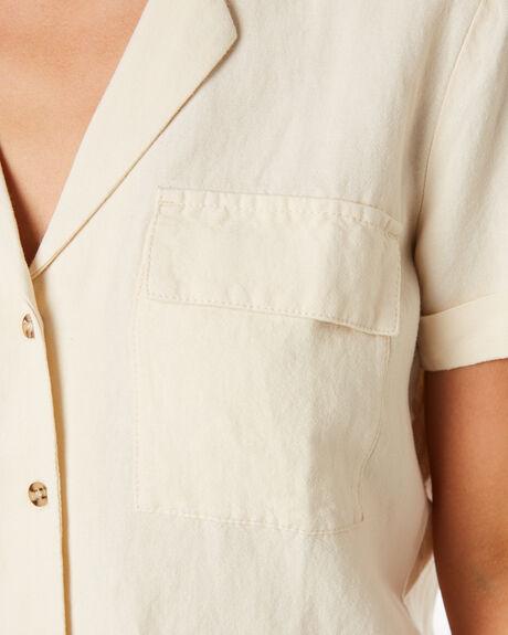 ECRU WOMENS CLOTHING RHYTHM FASHION TOPS - OCT19W-WT06ECR