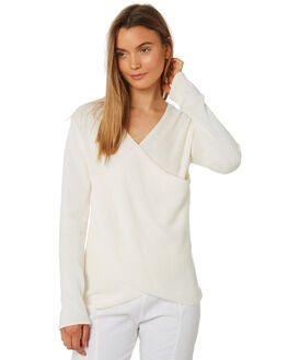 WARM WHITE WOMENS CLOTHING ZULU AND ZEPHYR KNITS + CARDIGANS - ZZ2419WWHT