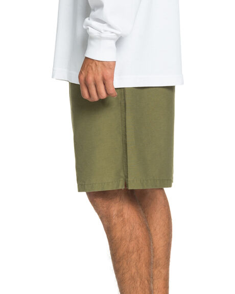 BURNT OLIVE MENS CLOTHING QUIKSILVER SHORTS - EQYWS03661-GPZ0
