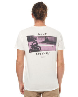 VINTAGE WHITE MENS CLOTHING DEUS EX MACHINA TEES - DMS71968VWHT
