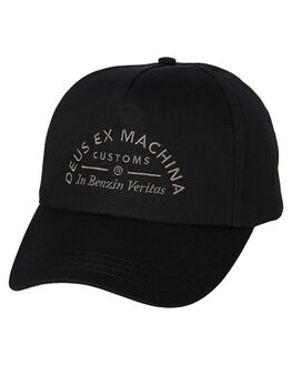 BLACK MENS ACCESSORIES DEUS EX MACHINA HEADWEAR - DMP97779BLK