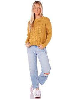 MUSTARD WOMENS CLOTHING ALL ABOUT EVE KNITS + CARDIGANS - 6414041MUST