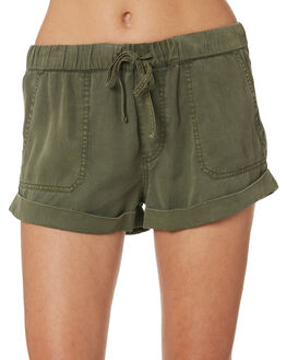 ARMY GREEN COMBO WOMENS CLOTHING VOLCOM SHORTS - B1911812ARC