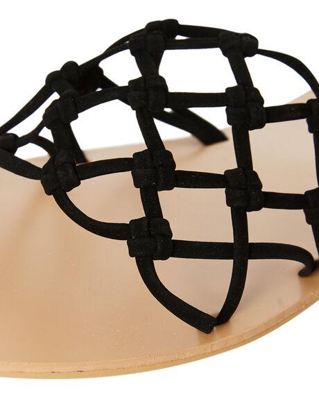 BLACK NUBUCK OUTLET WOMENS BILLINI SLIDES - S625BLKNU