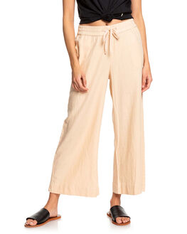 IVORY CREAM WOMENS CLOTHING ROXY PANTS - ERJNP03248-TFM0