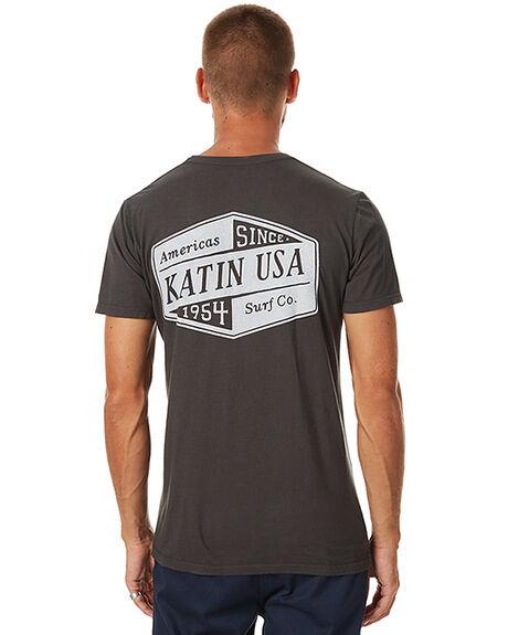 BLACK MENS CLOTHING KATIN TEES - TSSURS17BLK