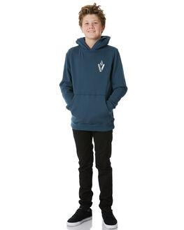 NAVY GREEN KIDS BOYS VOLCOM JUMPERS - C4131804NVG