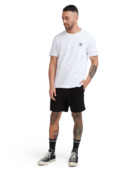 WHITE MENS CLOTHING RVCA TEES - R115047-WHT