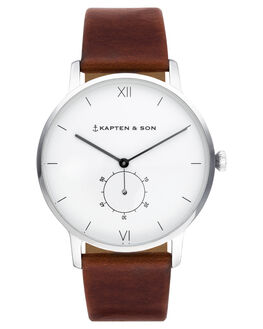SILVER BROWN MENS ACCESSORIES KAPTEN AND SON WATCHES - KS-CF03A0103F22ASILB