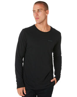 BLACK MENS CLOTHING HURLEY TEES - AJ1740010