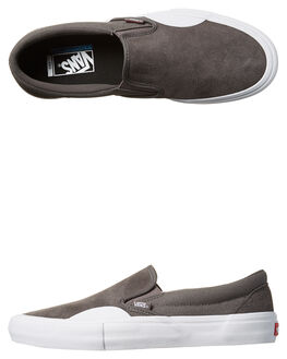 PEWTER WHITE MENS FOOTWEAR VANS SKATE SHOES - VN-047VLSIGRY