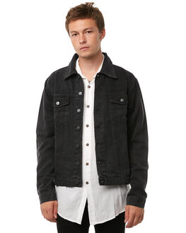 BLACK MENS CLOTHING THE PEOPLE VS JACKETS - AW18031BLK