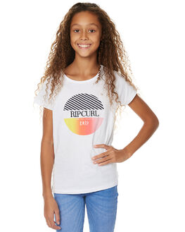 WHITE KIDS GIRLS RIP CURL TEES - JTECF11000