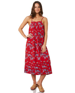RED FLORAL WOMENS CLOTHING O'NEILL DRESSES - 5421608RFL