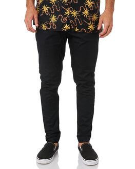 BLACK MENS CLOTHING ZANEROBE PANTS - 702-RSPBLK
