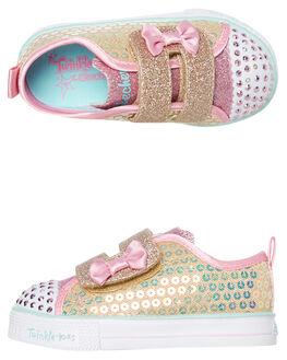 MINI MERMAID KIDS GIRLS SKECHERS FOOTWEAR - 20063NGLD
