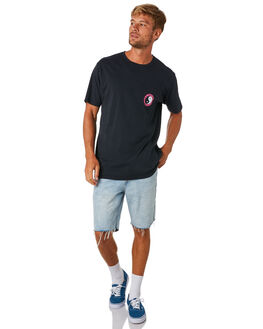 WASHED BLACK MENS CLOTHING TOWN AND COUNTRY TEES - TTE110WSBLK