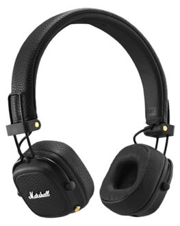 BLACK MENS ACCESSORIES MARSHALL AUDIO + CAMERAS - 154376BLK