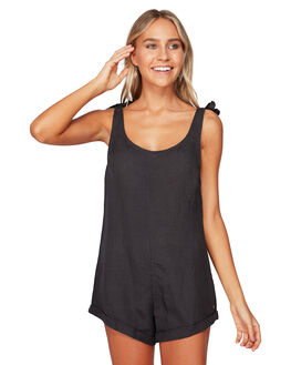 OFF BLACK WOMENS CLOTHING BILLABONG PLAYSUITS + OVERALLS - BB-6592502-OFB