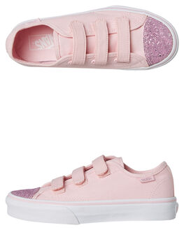 CHALK PINK KIDS GIRLS VANS SNEAKERS - VNA3JFNQ8GCPNK