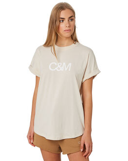 CHALK WOMENS CLOTHING C&M CAMILLA AND MARC TEES - VCMT7050CHALK