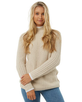 OATMEAL WOMENS CLOTHING RUSTY KNITS + CARDIGANS - CKL0335OAT