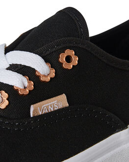 BLACK KIDS GIRLS VANS SNEAKERS - VNA38H3Q6ABLK