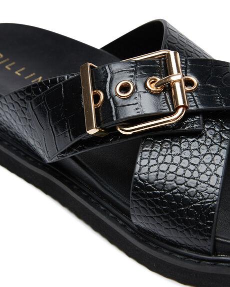 BLACK CROC WOMENS FOOTWEAR BILLINI FASHION SANDALS - S685BLKCR