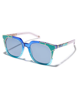 BLUE LAGOON GOLD WOMENS ACCESSORIES PARED EYEWEAR SUNGLASSES - PE1703ABBLGLD