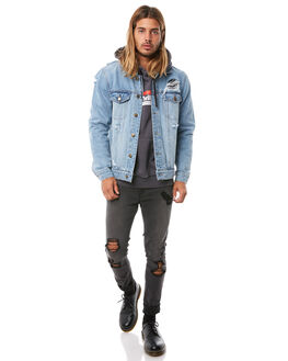 STONED BLUE MENS CLOTHING THRILLS JACKETS - TDP-228SESBLUE