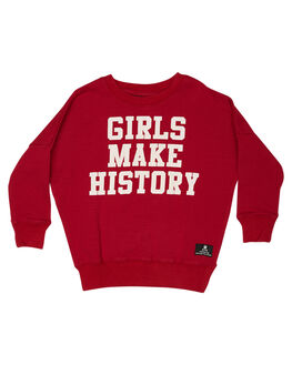 RED KIDS GIRLS ROCK YOUR KID JUMPERS + JACKETS - TGH1912-GMRED