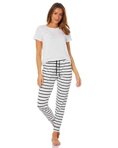 WHITE BLACK WOMENS CLOTHING BETTY BASICS PANTS - BB272WTBK