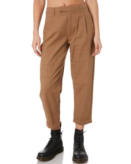 KHAKI WOMENS CLOTHING BRIXTON PANTS - 04140KHAKI
