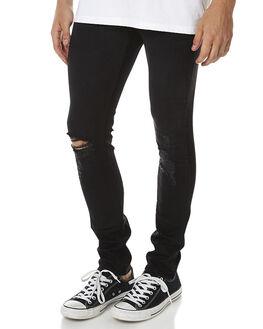 SABBATH BLACK MENS CLOTHING WRANGLER JEANS - W-900625-P55SABBK