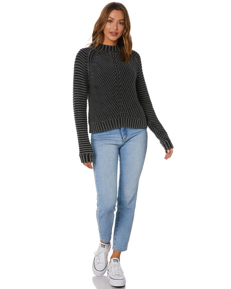 BLACK WOMENS CLOTHING RUSTY KNITS + CARDIGANS - CKL0393-BLK