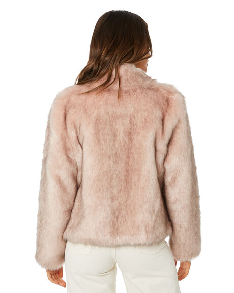 PINK WOMENS CLOTHING UNREAL FUR JACKETS - URF8100035DUP