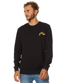 BLACK MENS CLOTHING RUSTY JUMPERS - FTM0794BK1