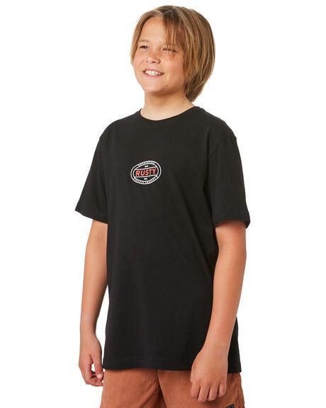 BLACK KIDS BOYS RUSTY TOPS - TTB0654BLK