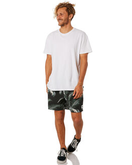 BLACK MENS CLOTHING STUSSY SHORTS - ST082611BLK