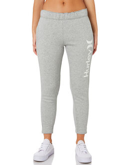 DARK GREY HEATHER WOMENS CLOTHING HURLEY PANTS - AJ3566063