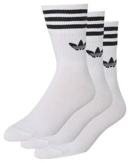 WHITE BLACK MENS CLOTHING ADIDAS SOCKS + UNDERWEAR - DX9091WHTBK