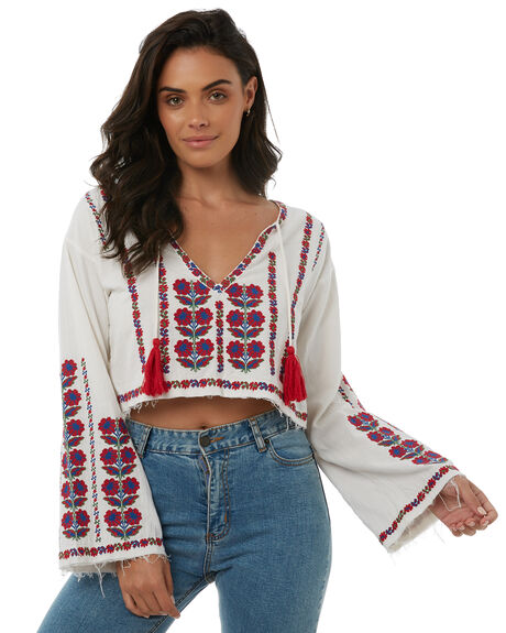 WHITE WOMENS CLOTHING TIGERLILY FASHION TOPS - T385040WHITE