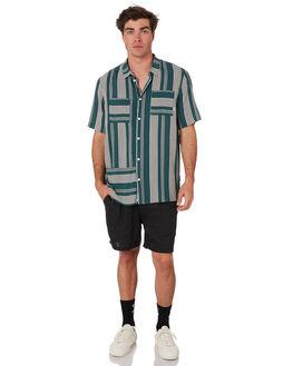TEAL STRIPE MENS CLOTHING RPM SHIRTS - 9SMT13A1TLSTR