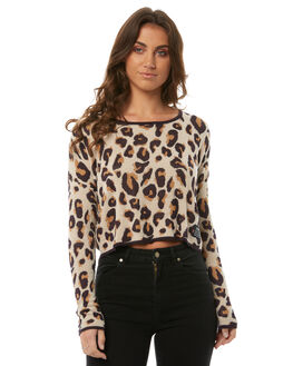LEOPARD WOMENS CLOTHING ELEMENT KNITS + CARDIGANS - 286186L57